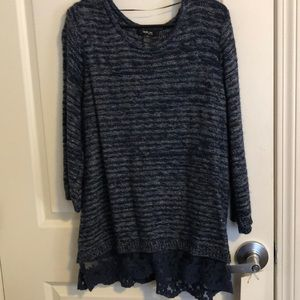 Style & Co lightweight blue sweater